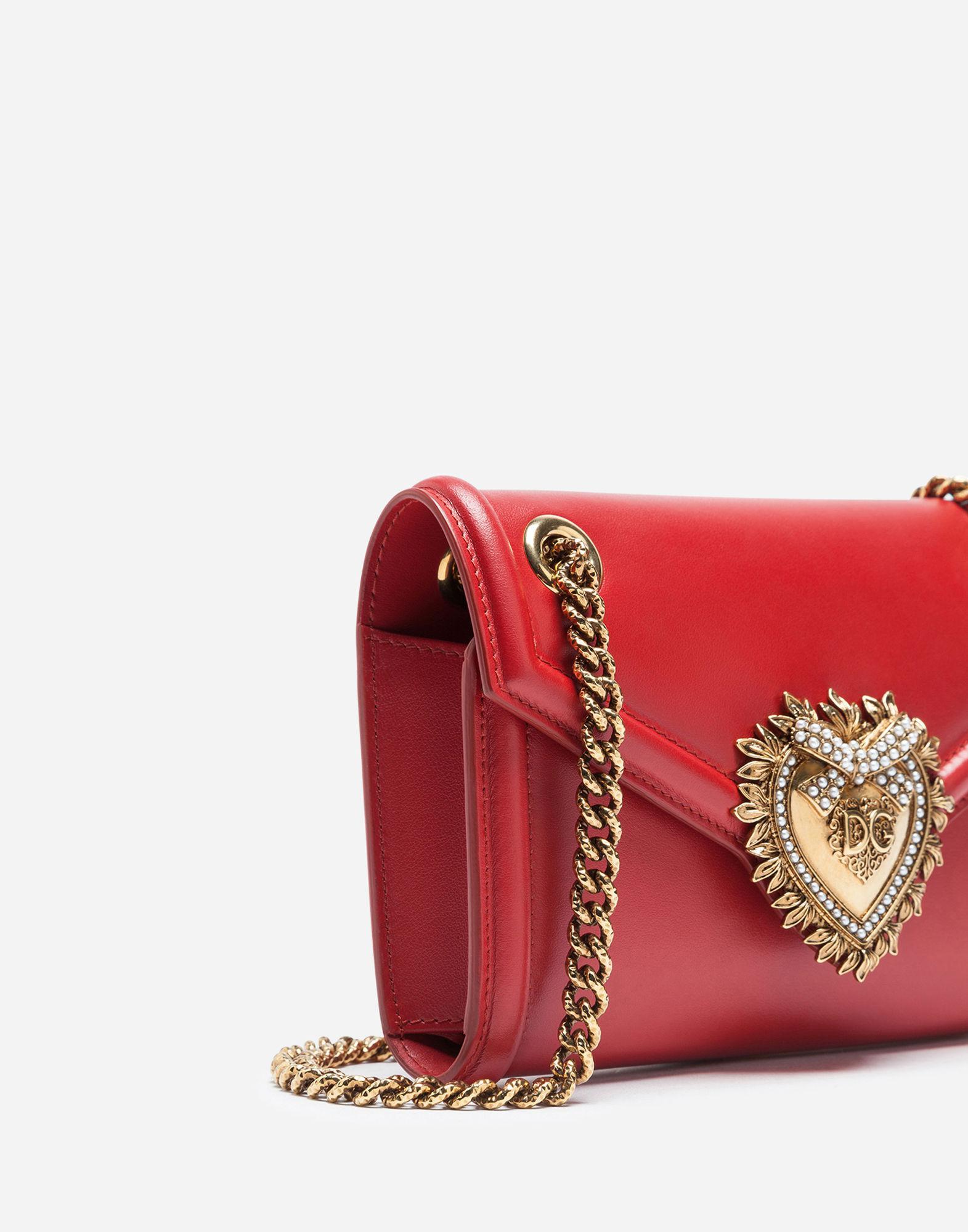 Lyst - Dolce   Gabbana Mini Devotion Bag In Smooth Calfskin in Red de55e0ba13aba