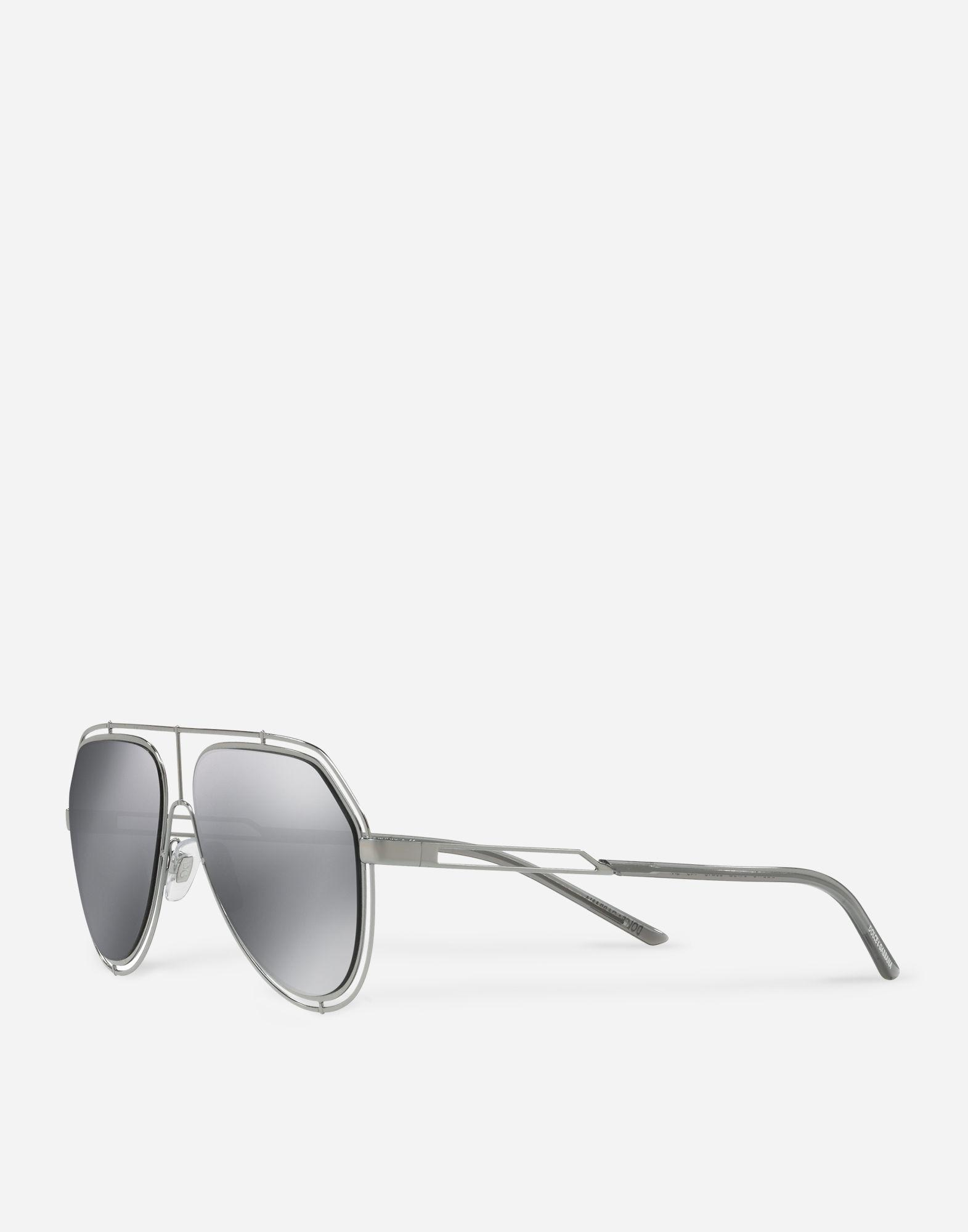 0140f3792ef Lyst - Dolce   Gabbana Aviator Sunglasses With Metal Rims in Metallic for  Men