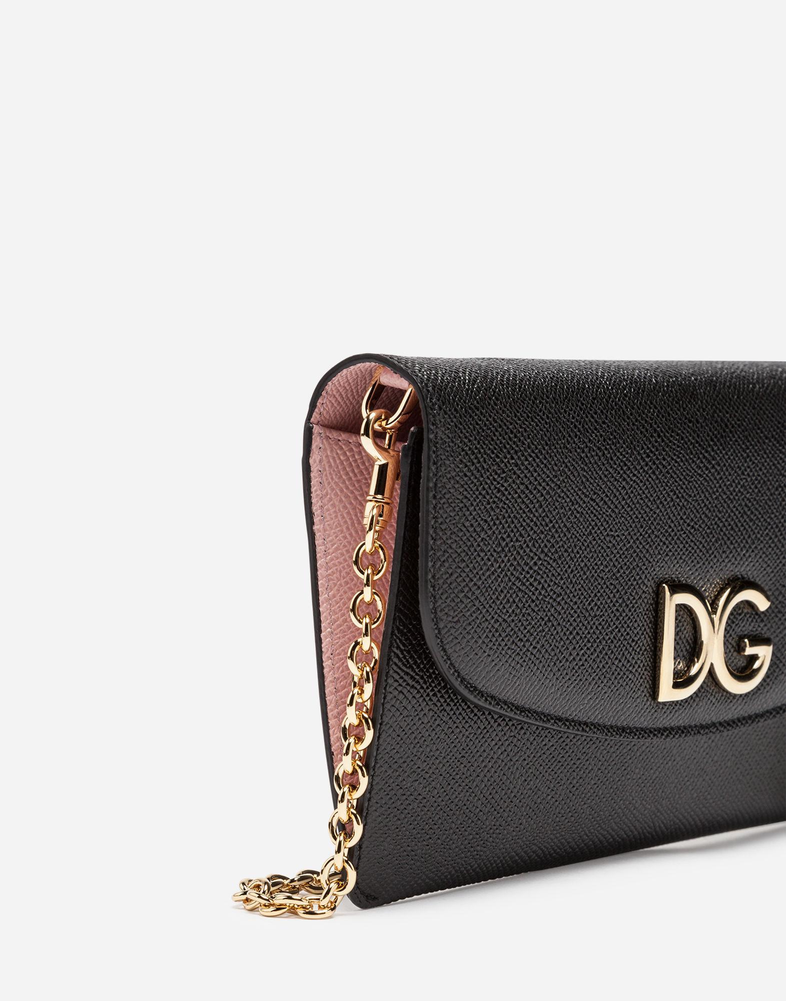 c94c995cd614 Lyst - Dolce   Gabbana Leather Wallet Bag in Black