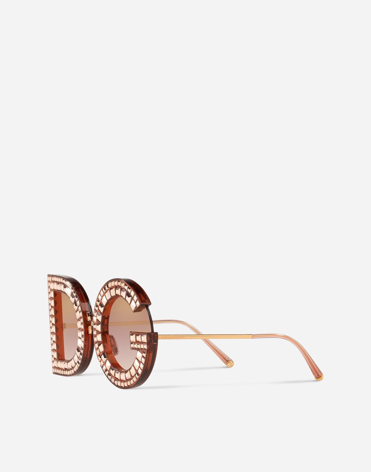 2f1e1100c389 Lyst - Dolce   Gabbana Dg Glitter Sunglasses in Pink