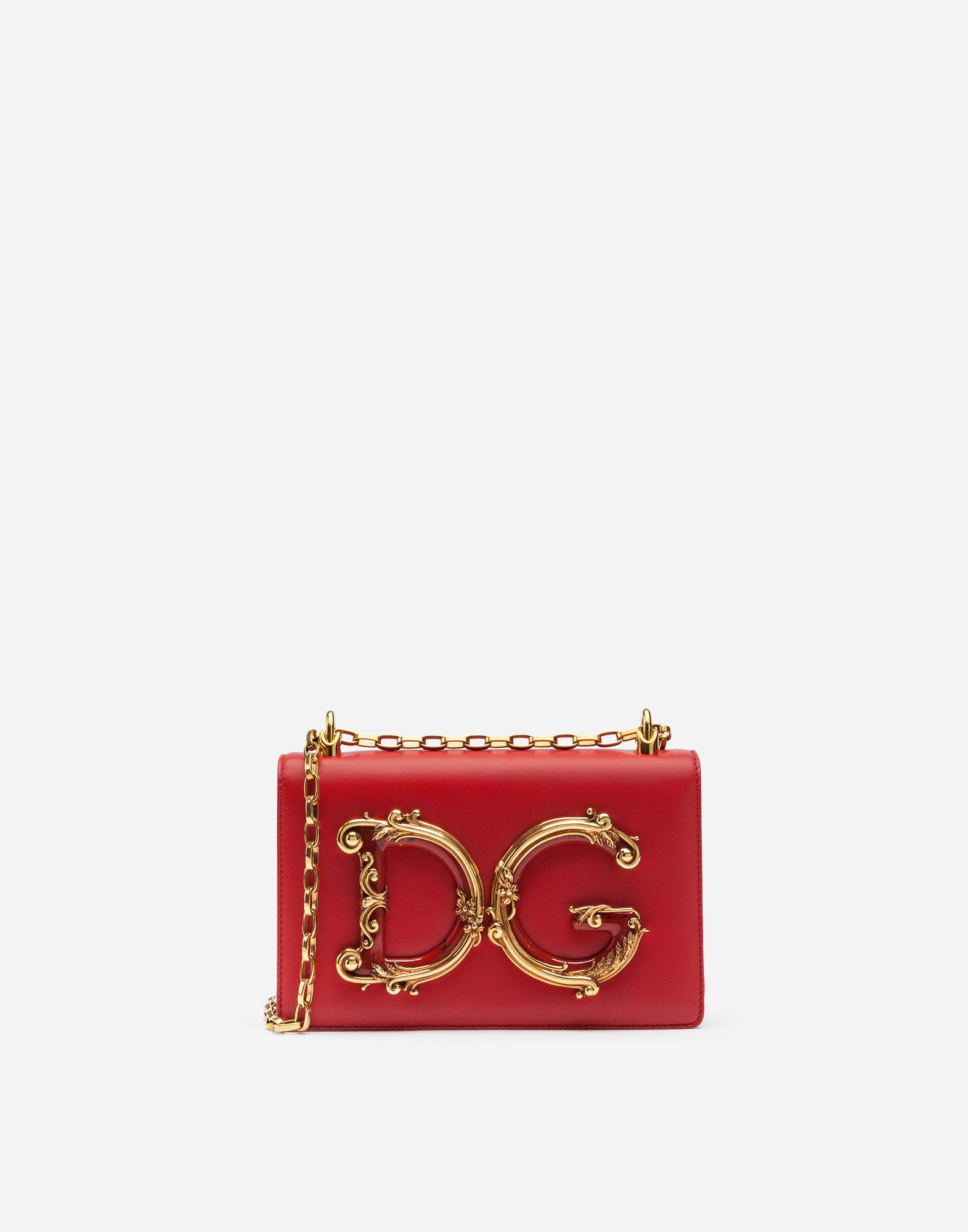 d5d8c357c973 Lyst - Dolce   Gabbana Dg Girls Shoulder Bag In Nappa Leather in Red