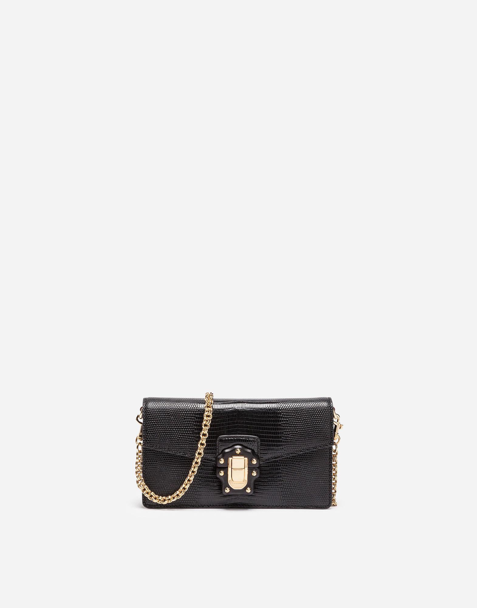 d4bad2f31e Dolce & Gabbana Mini Leather Lucia Bag in Black - Lyst