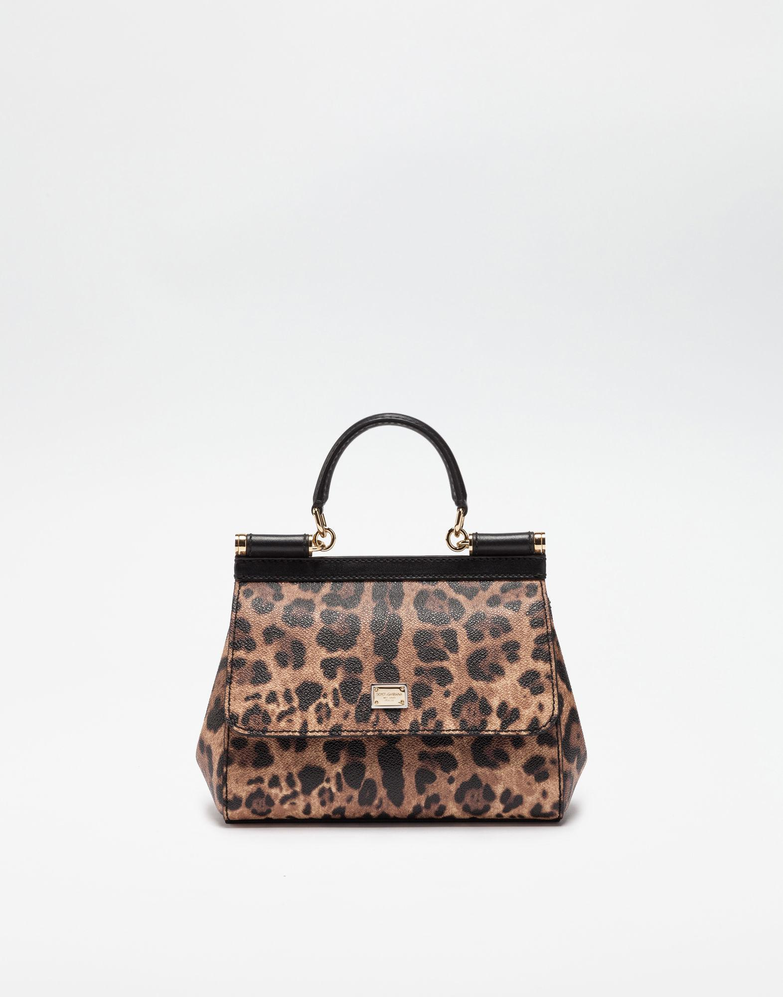 Lyst - Dolce   Gabbana Small Sicily Bag In Leopard Textured Leather 81a6ef9083