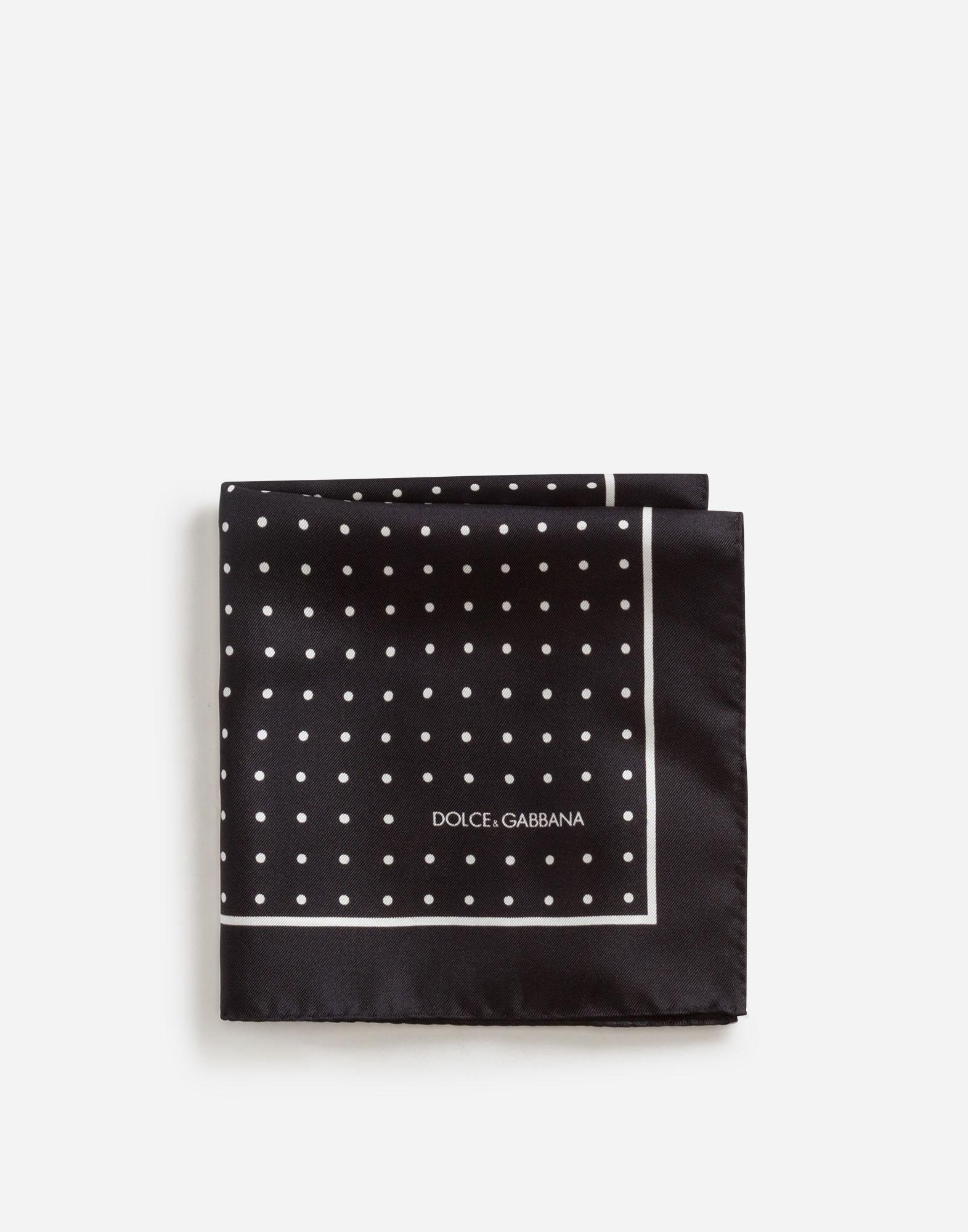 399acff88a3 Lyst - Dolce   Gabbana Pocket Square In Printed Silk in Black for Men