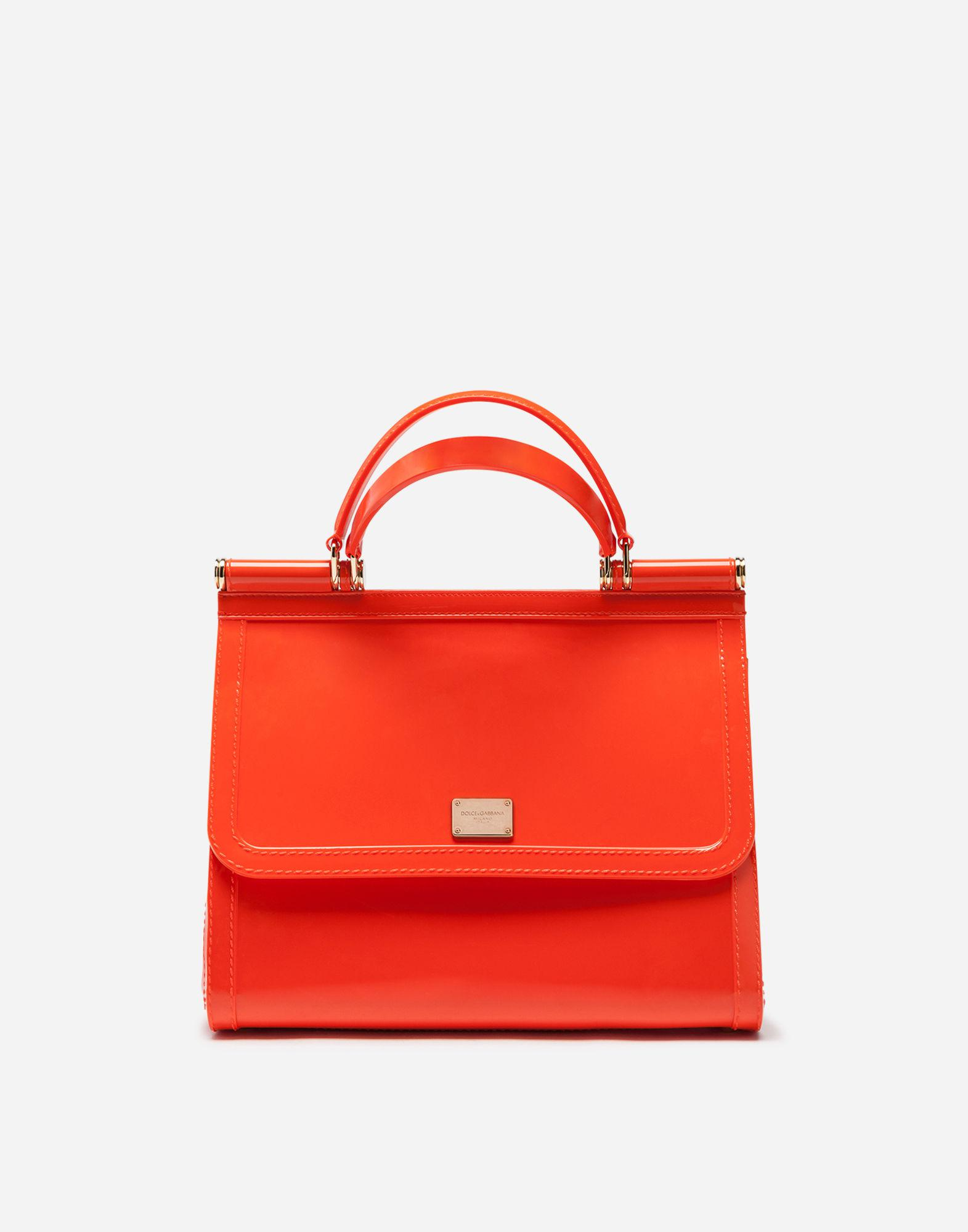 Lyst - Dolce   Gabbana Rubber Sicily Handbag in Orange 370b3cafaf102