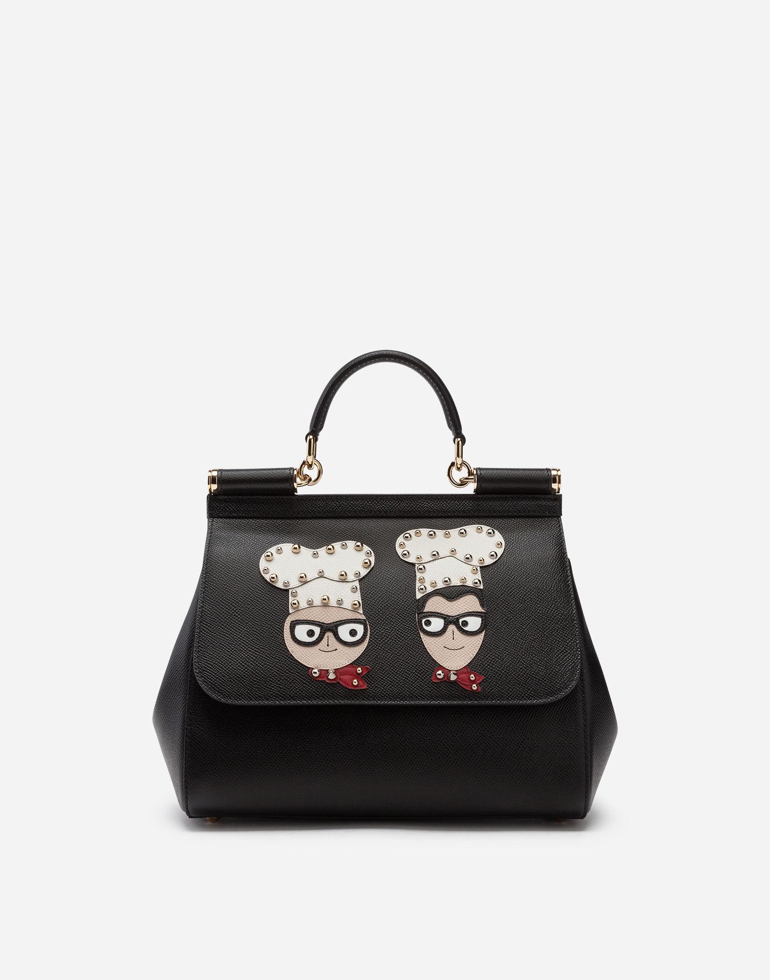b36662d9f71a Lyst - Dolce   Gabbana Medium Sicily Handbag In Dauphine Calfskin ...