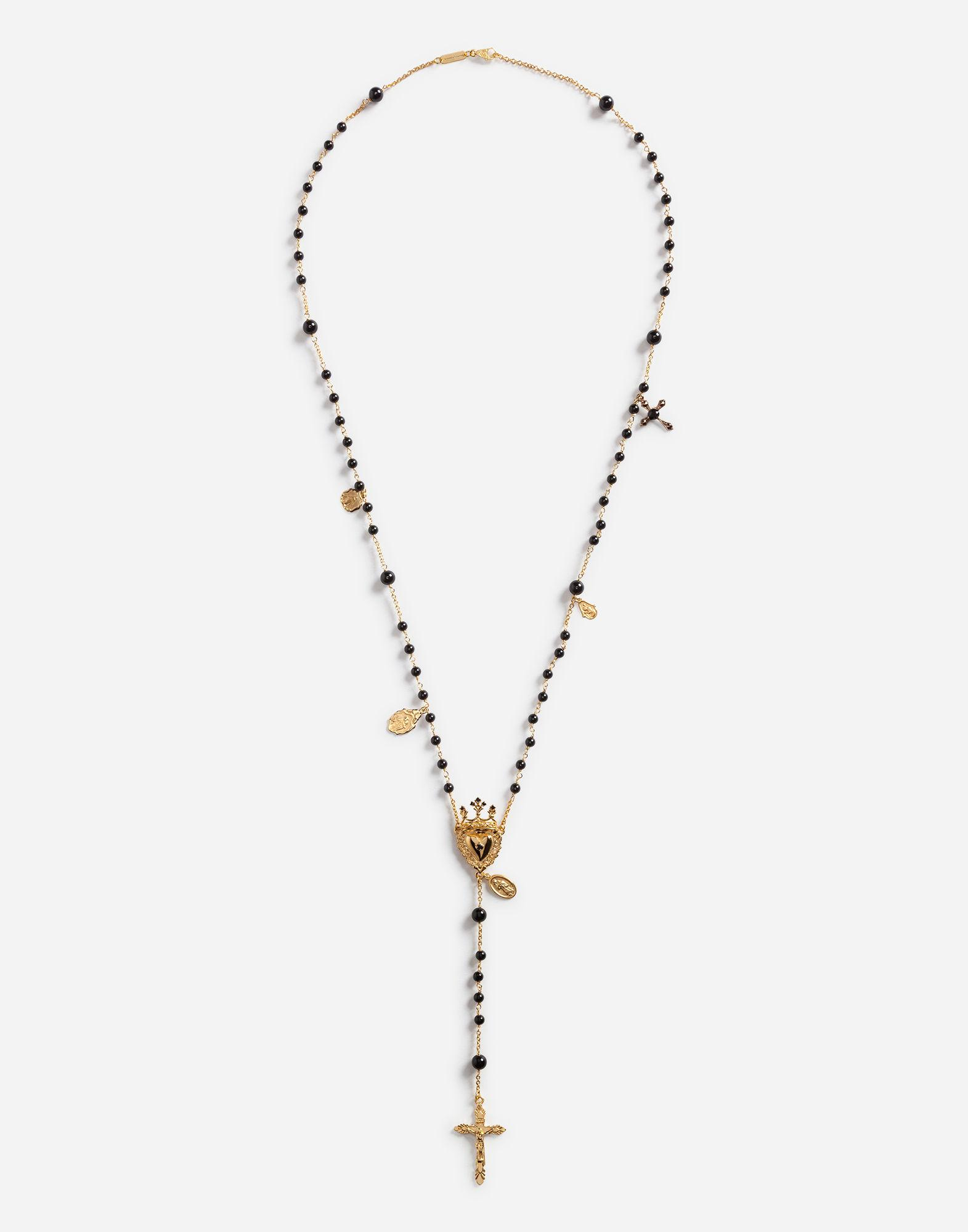 9a08c2feb5 Lyst - Dolce   Gabbana Rosary Necklace in Metallic