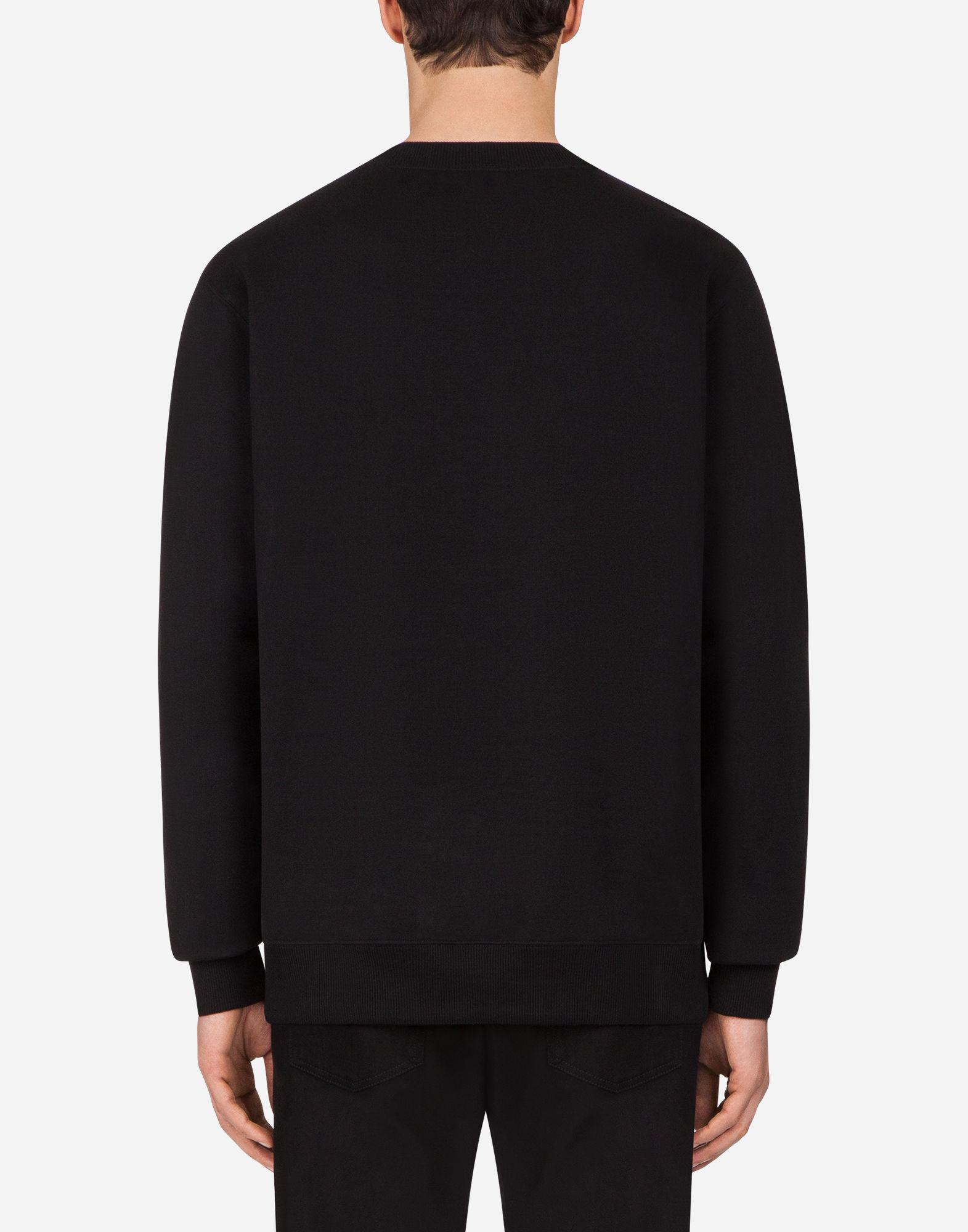 dfd9f8167602 Lyst - Dolce   Gabbana Swarovski Logo Cotton Sweatshirt in Black for Men -  Save 75%