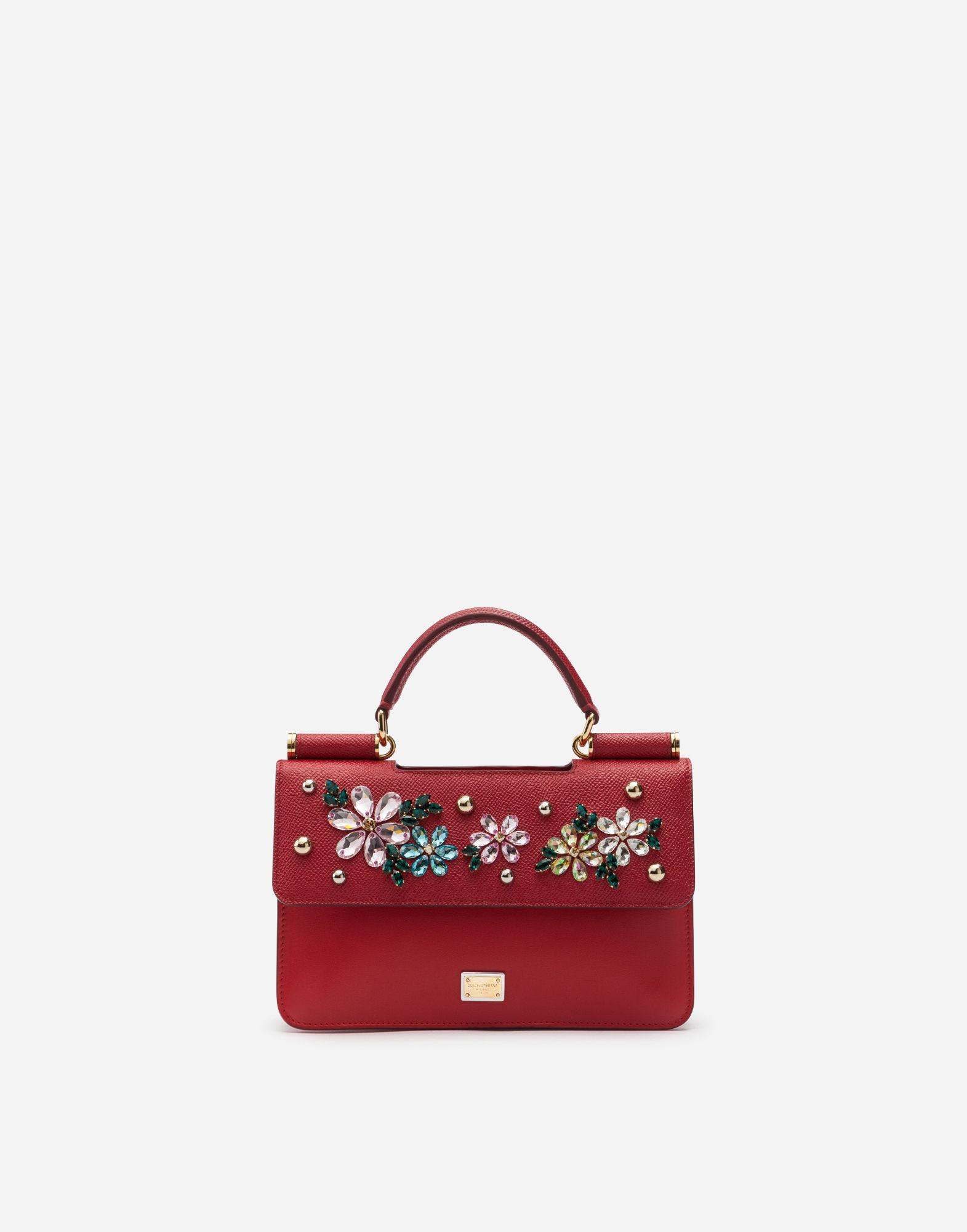 7e90bb29f43 Lyst - Dolce   Gabbana Sicily Mini Bag In Dauphine Calfskin With ...