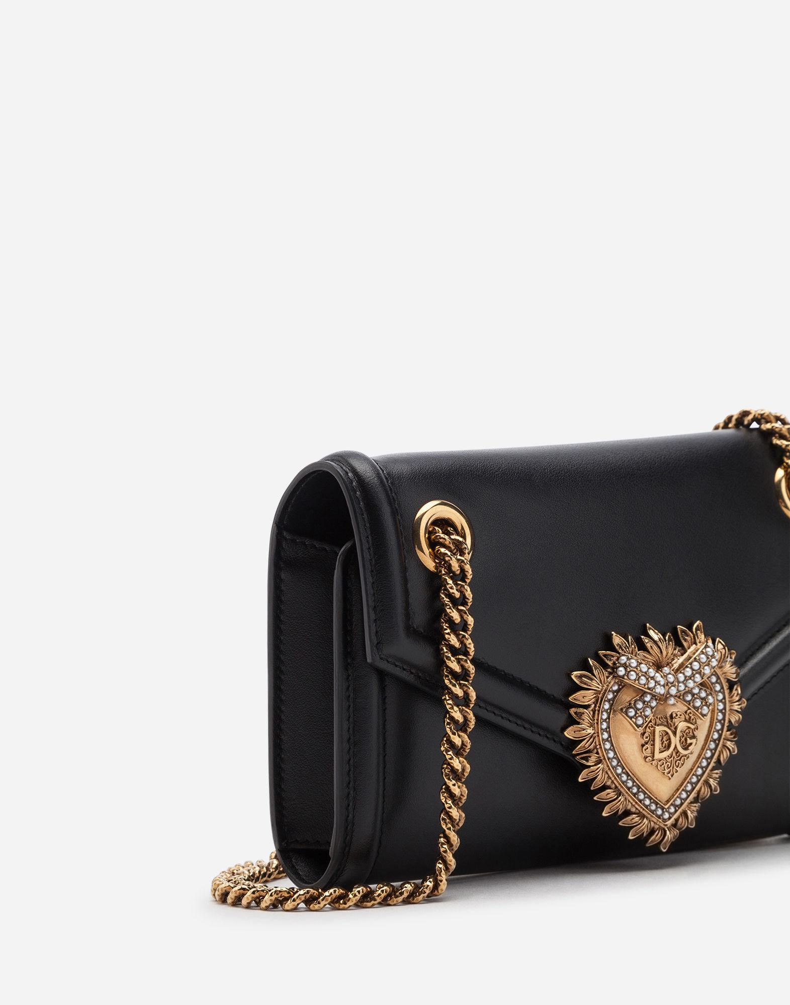 Lyst - Dolce   Gabbana Medium Devotion Shoulder Bag in Black - Save 23% 502d5ef1805d6
