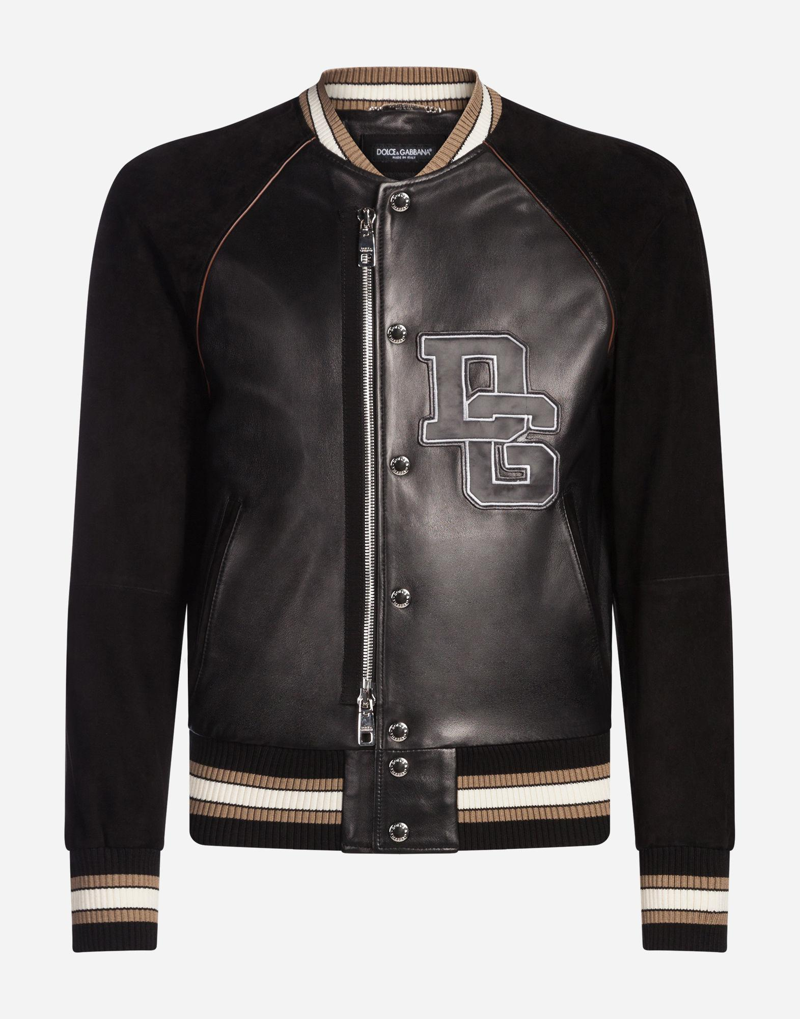 uk availability 2c25c f1d2d dolce-gabbana-black-Bomber-En-Cuir-Avec-Ecusson.jpeg
