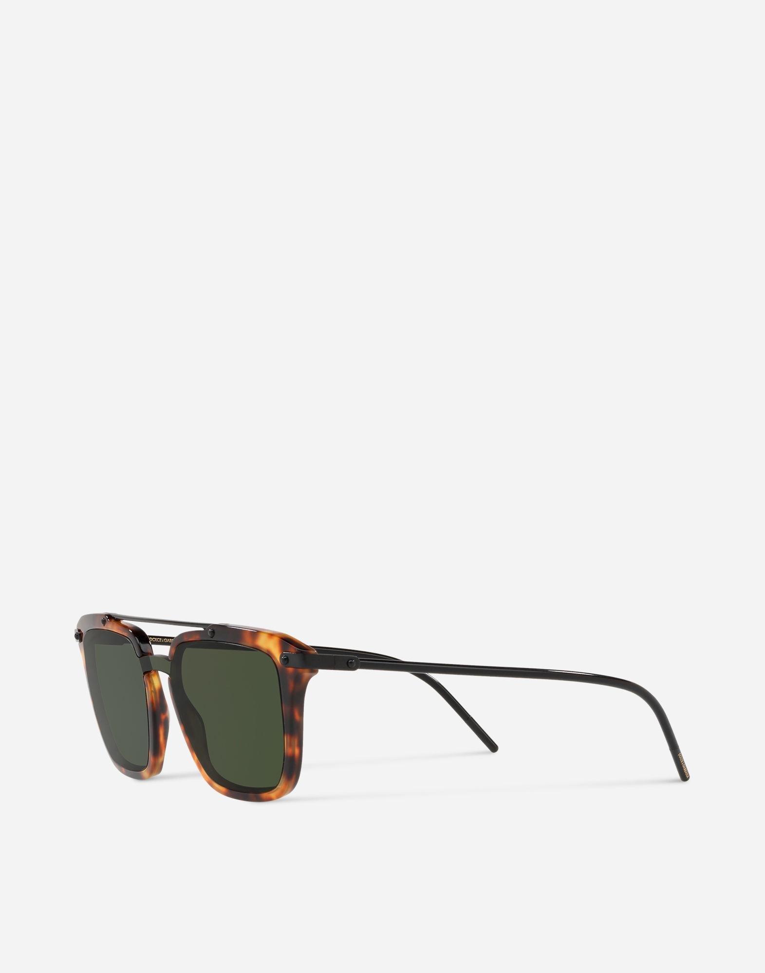 0b4634436ca Lyst - Dolce   Gabbana Square Sunglasses With Double Bridge for Men
