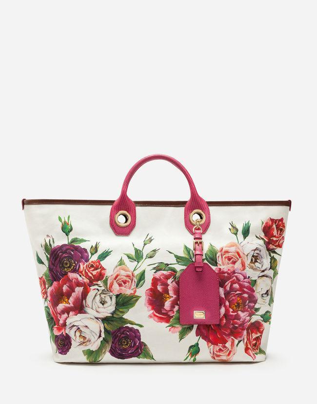 9d4efef2ba23 Dolce   Gabbana. Women s Red Medium Capri Shopping Bag In Printed Canvas