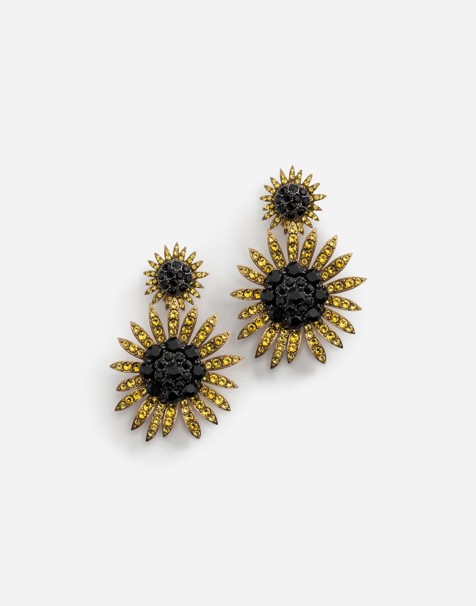 996bc55cf Dolce & Gabbana Drop Earrings With Decorative Rhinestone Details in ...