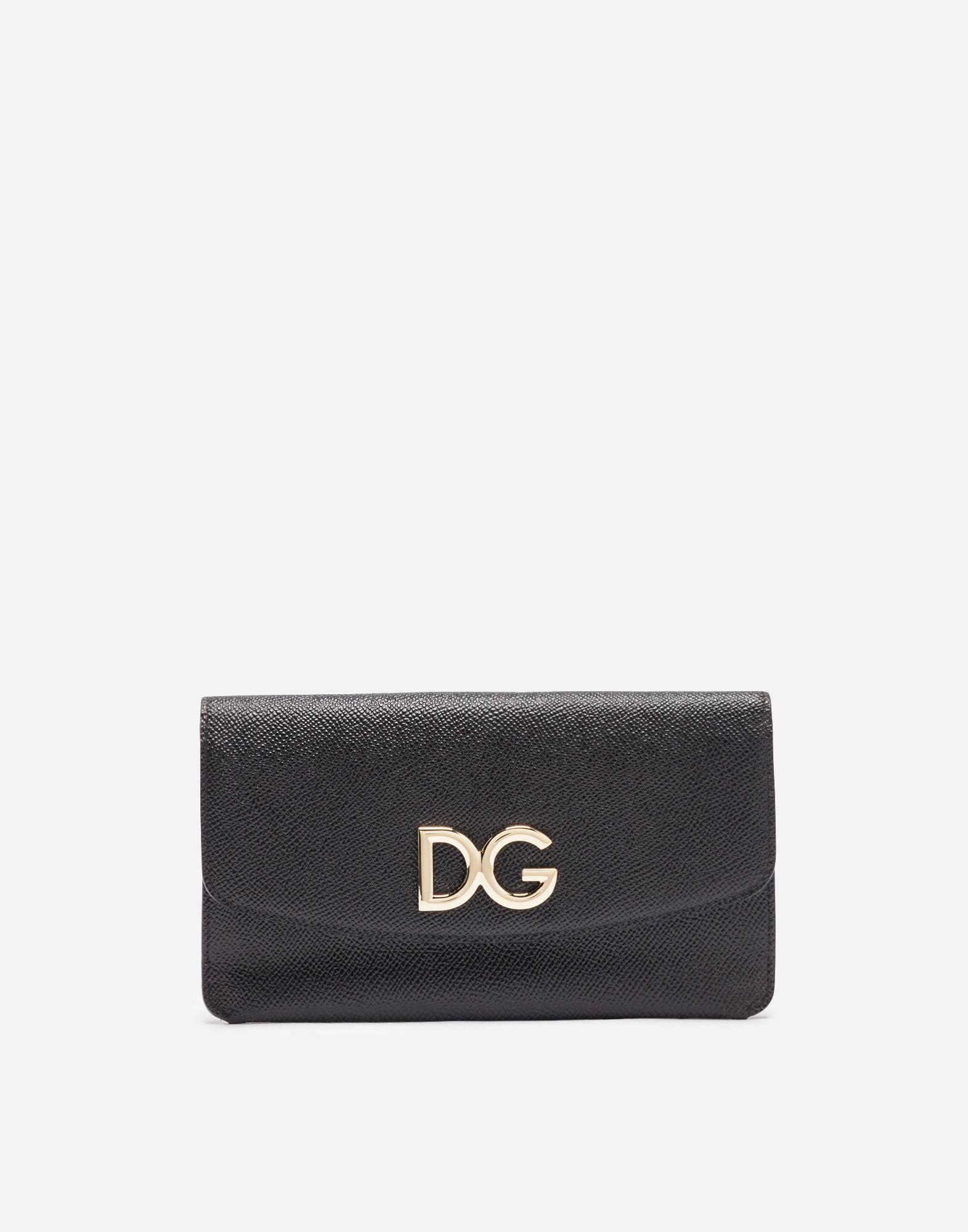 a677b2debe Lyst - Dolce & Gabbana Leather Multi-functional Wallet in Black