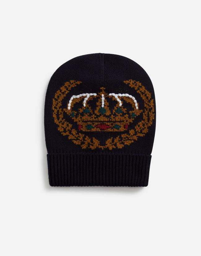 d43b341e0f9 Dolce   Gabbana Hat In Inlaid Cashmere And Wool With Embroidery in ...