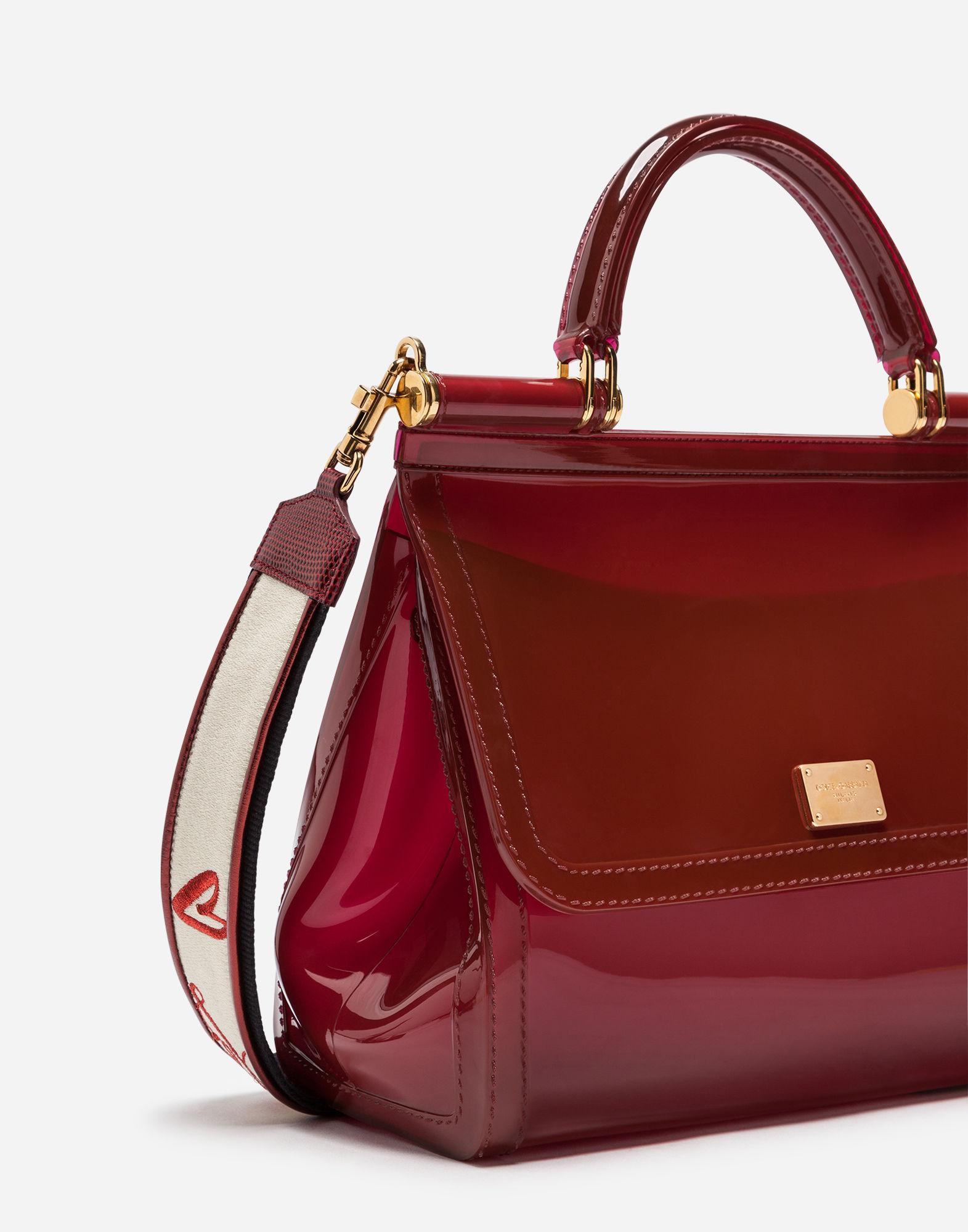 b5e2be4911d1 Lyst - Dolce   Gabbana Semi-transparent Rubber Sicily Handbag in Red