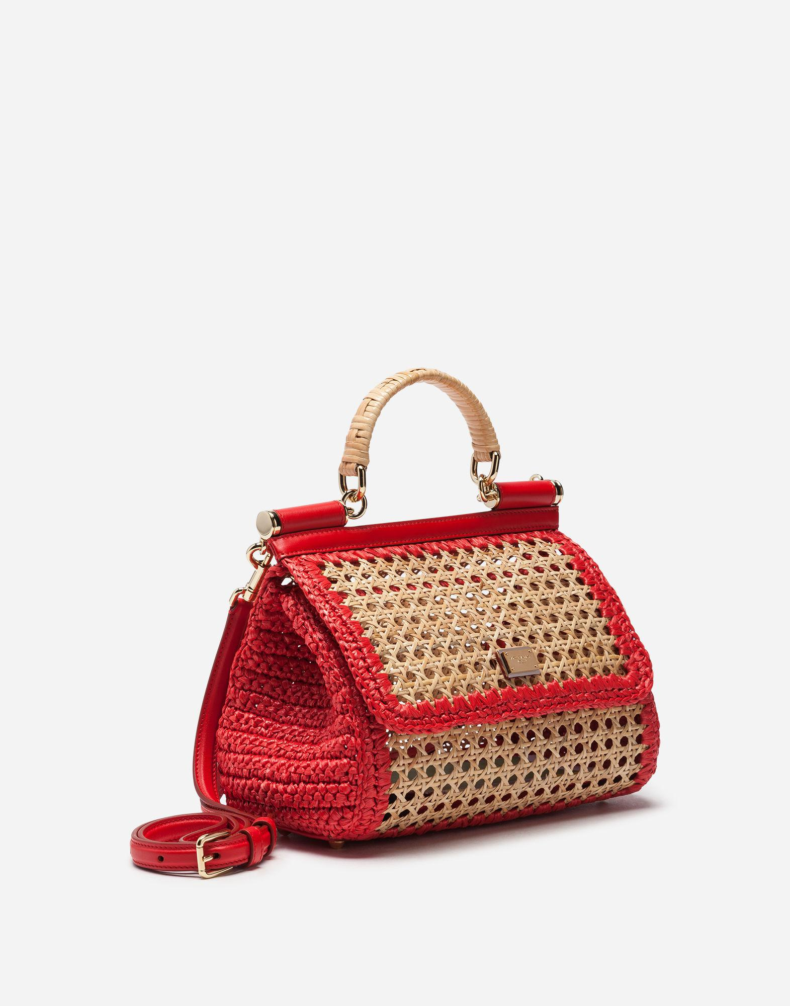 08ce680cdebd Lyst - Dolce   Gabbana Medium Sicily Bag In Mix Of Materials in Red - Save  11%