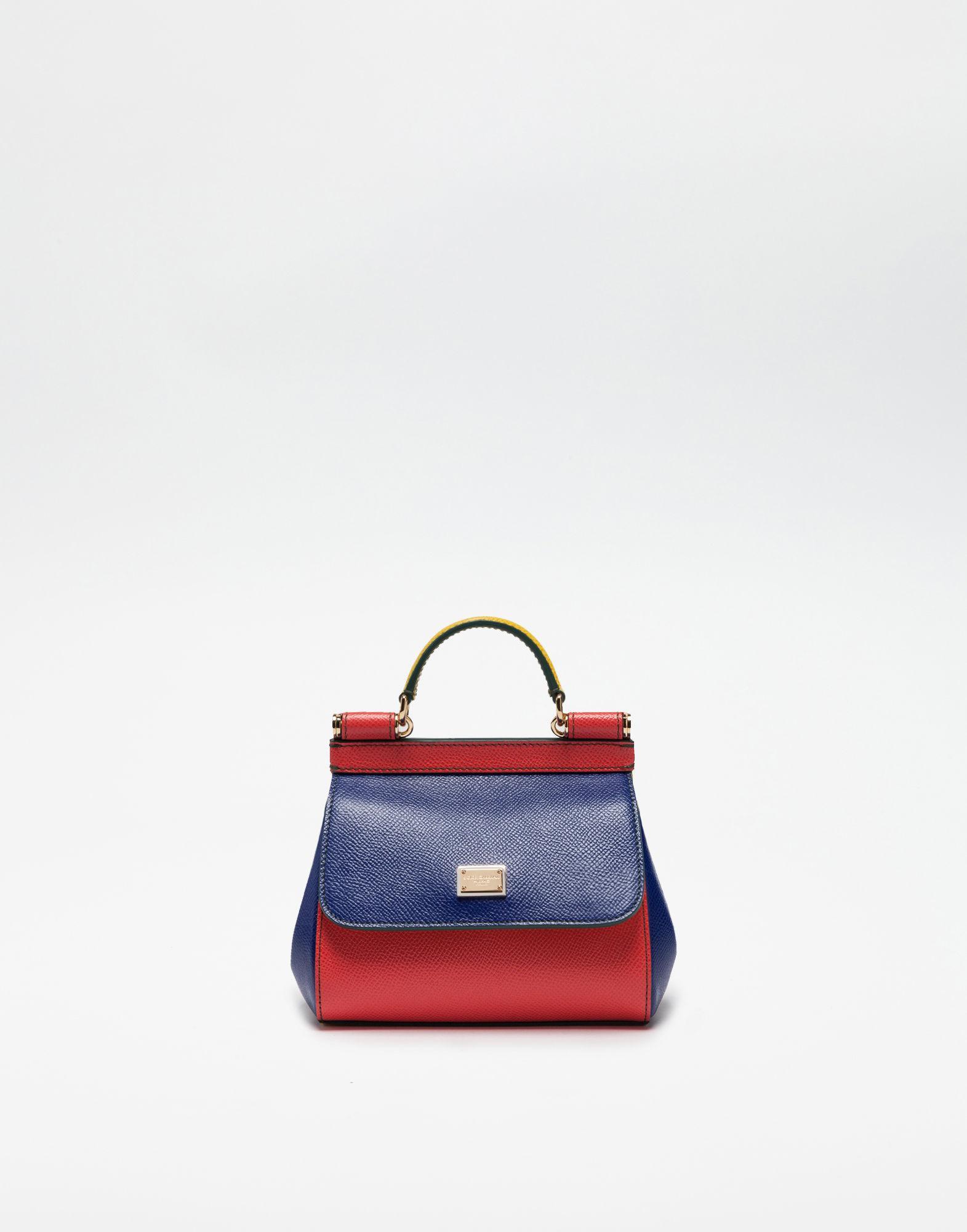 c5e3c704a8c60a Dolce & Gabbana Mini Sicily Mix Handbag In Leather in Blue - Lyst