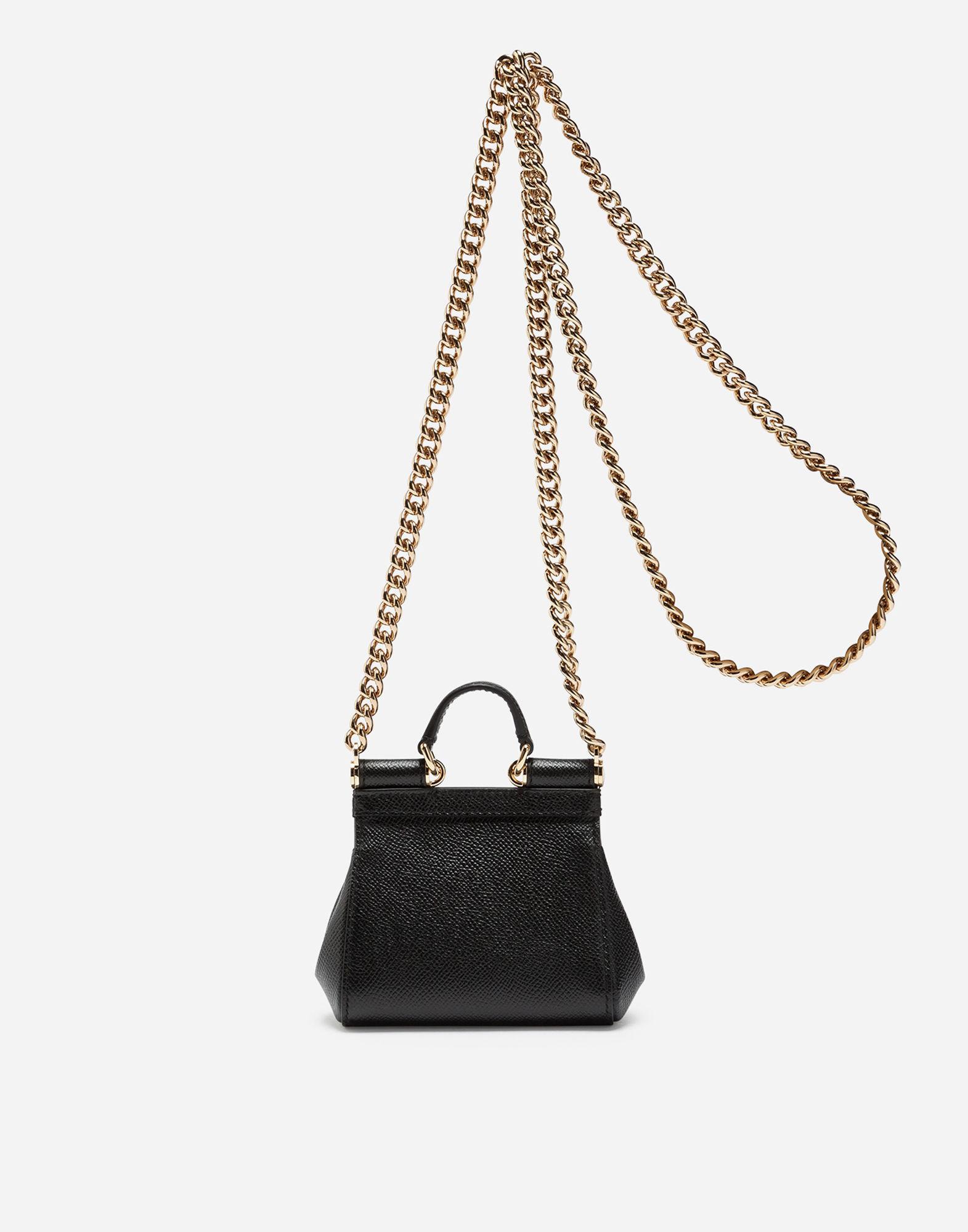 2285beeb6e Dolce   Gabbana - Black Sicily Handbag In Printed Dauphine Calfskin - Lyst.  View fullscreen