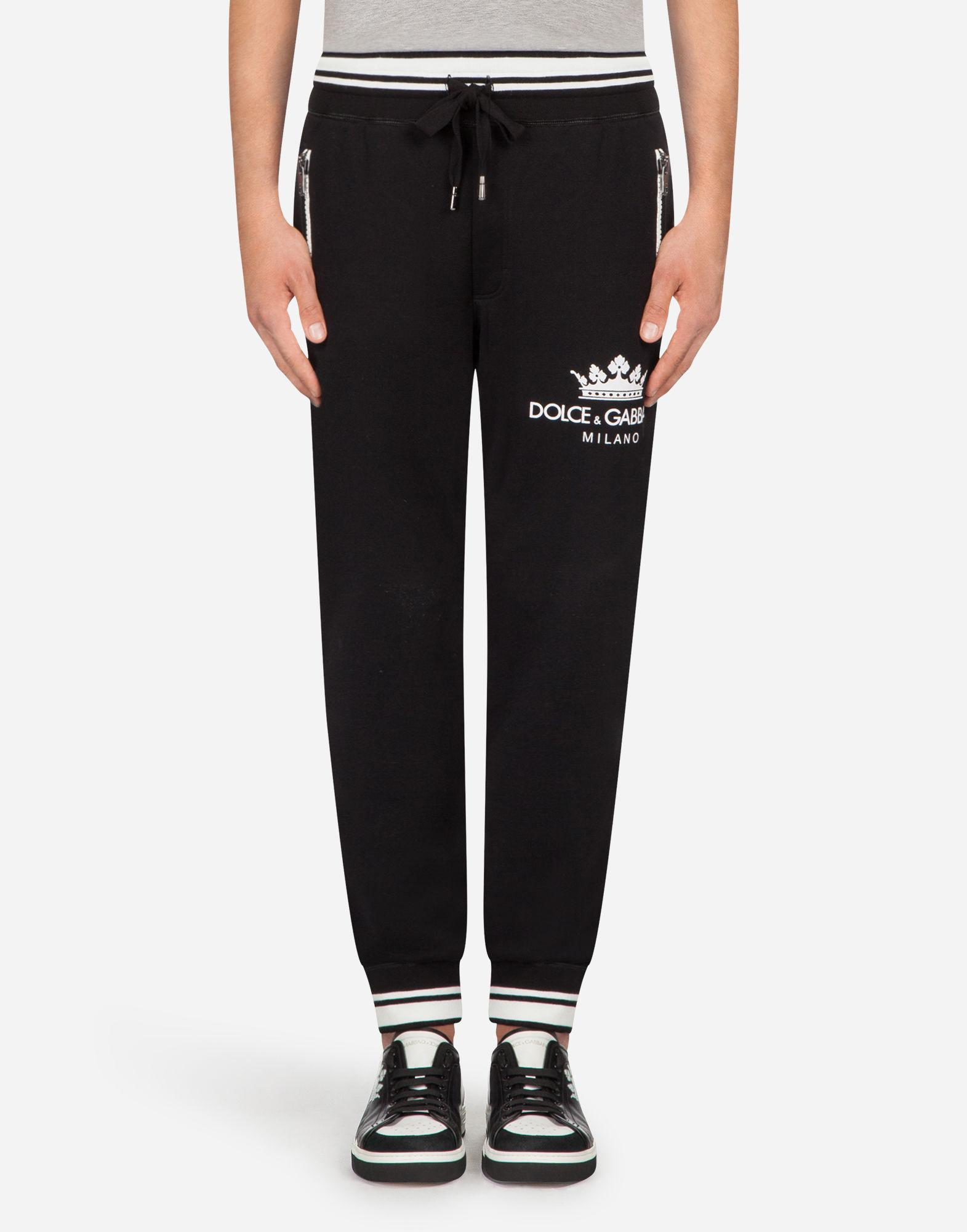 c020d8c62a7 Lyst - Dolce   Gabbana Cotton JOGGING Pants With Print in Black for Men