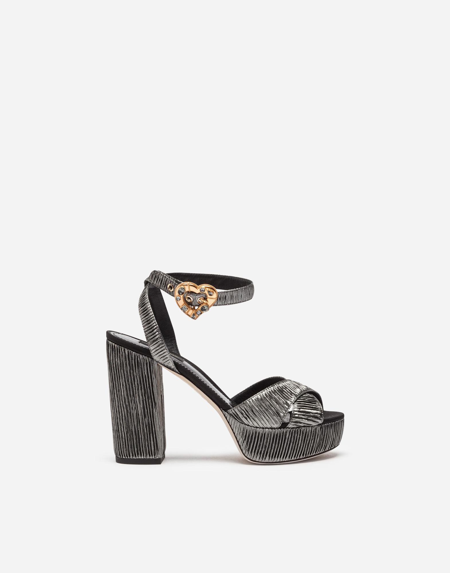 Dolce & Gabbana Silver Mira Pearl Sandals tV1J5o1c