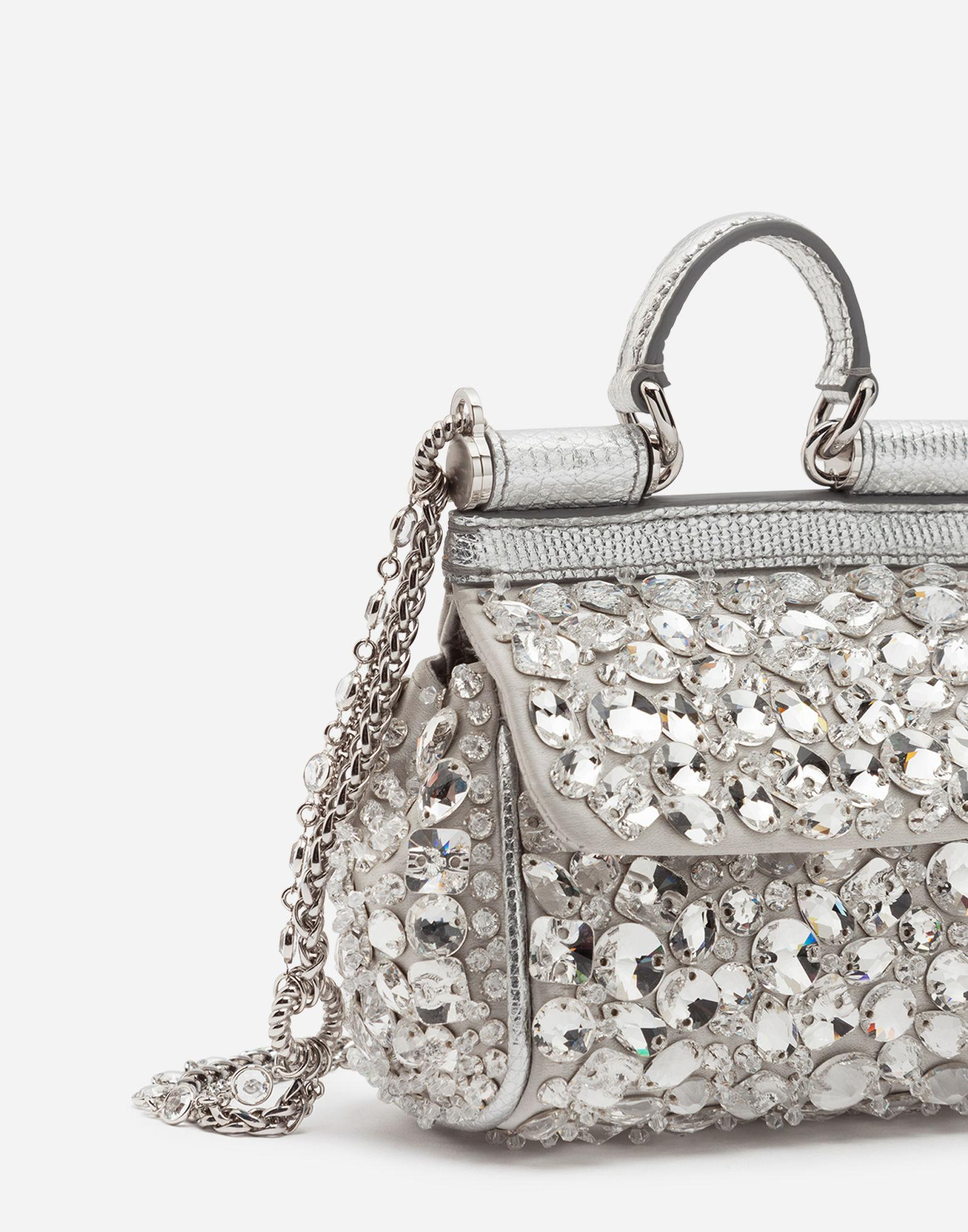 Lyst - Dolce   Gabbana Micro Sicily Bag In Satin With Embroideries in  Metallic - Save 52% c8f2afe1bd97c