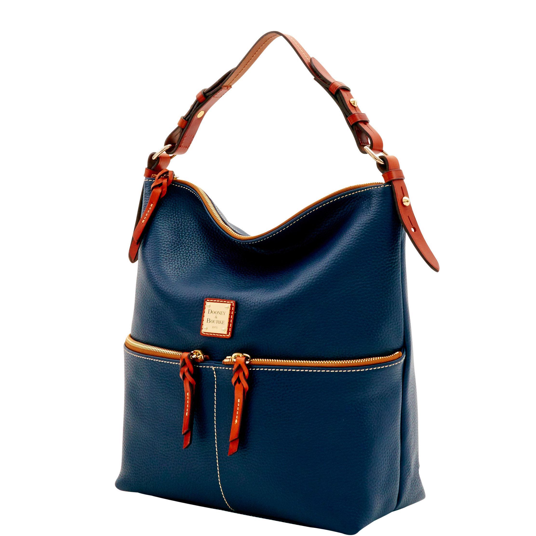 Dooney   Bourke - Blue Pebble Grain Zipper Pocket Sac - Lyst. View  fullscreen 7c8acba12eca5