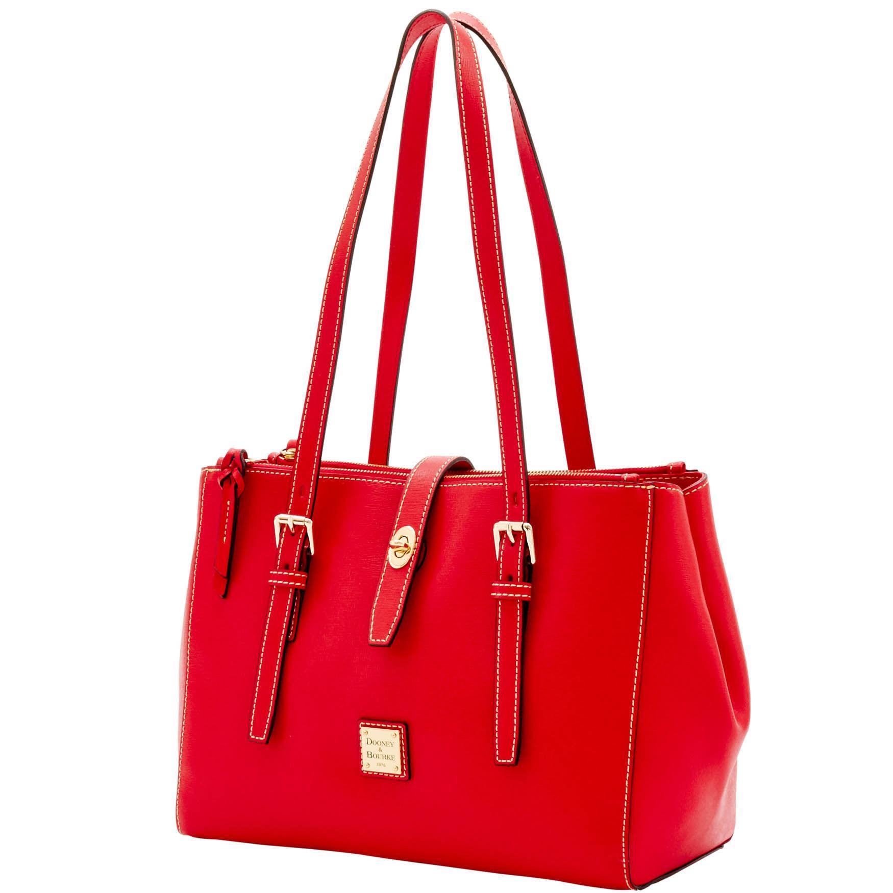 d629499a4639 Lyst - Dooney   Bourke Saffiano Miller Shopper in Red