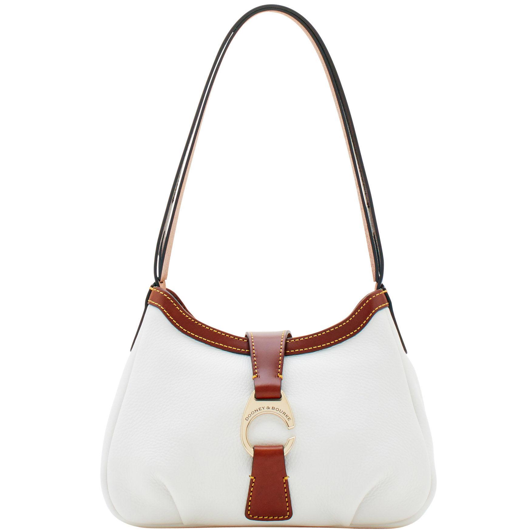 Lyst - Dooney   Bourke Derby Pebble Shoulder Bag in White - Save 20% d75dedf0c796d