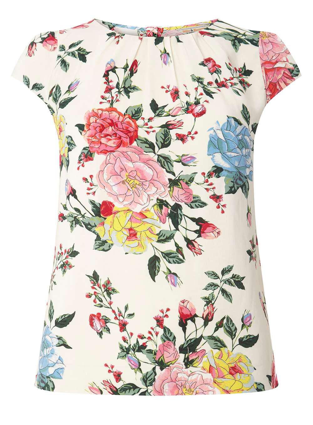 Clearance Discounts Cheap Professional Dorothy Perkins Womens **Billie & Blossom Navy Floral Print Shell Top- Huge Surprise Cheap Online Cheap Sale 2018 4iCetnAWh7