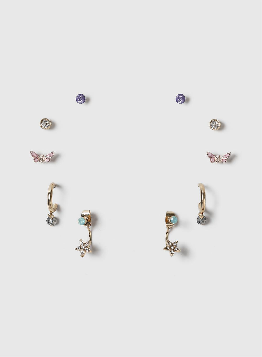 4147a60ad Lyst - Dorothy Perkins Five Pack Pretty Earrings