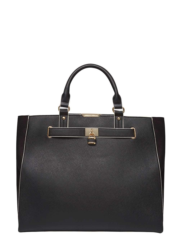 Dorothy perkins Black Mix Belted Tote Bag in Black