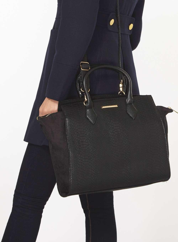 f24f0bb0d06c Lyst - Dorothy Perkins Black Slouch Side Tote Bag in Black
