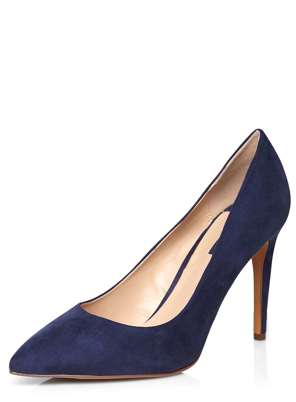 Dorothy Perkins Navy Emily Pointed Court Shoes In Blue