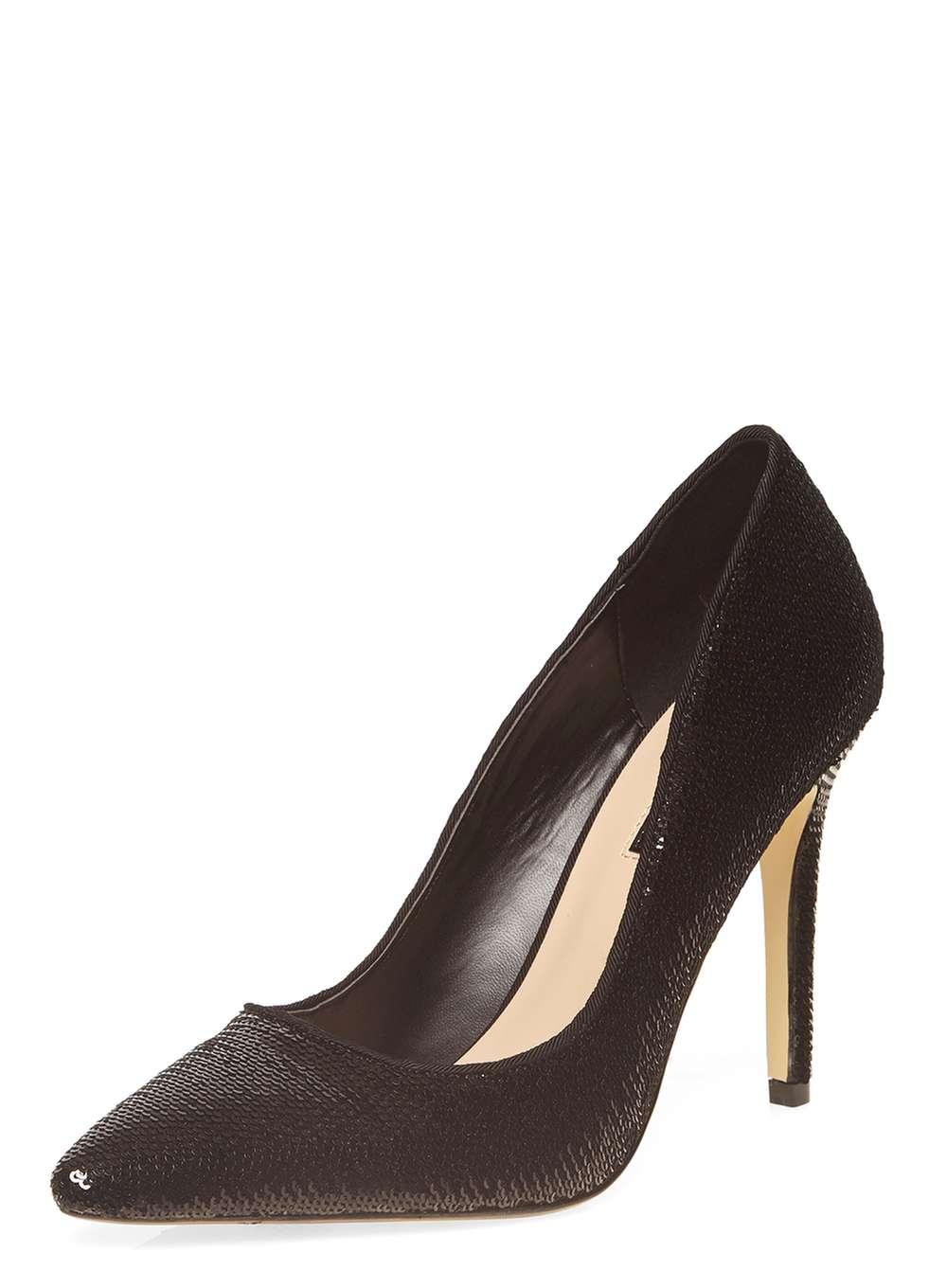 Lyst Dorothy Perkins Black Sequin Emie Pointed Court