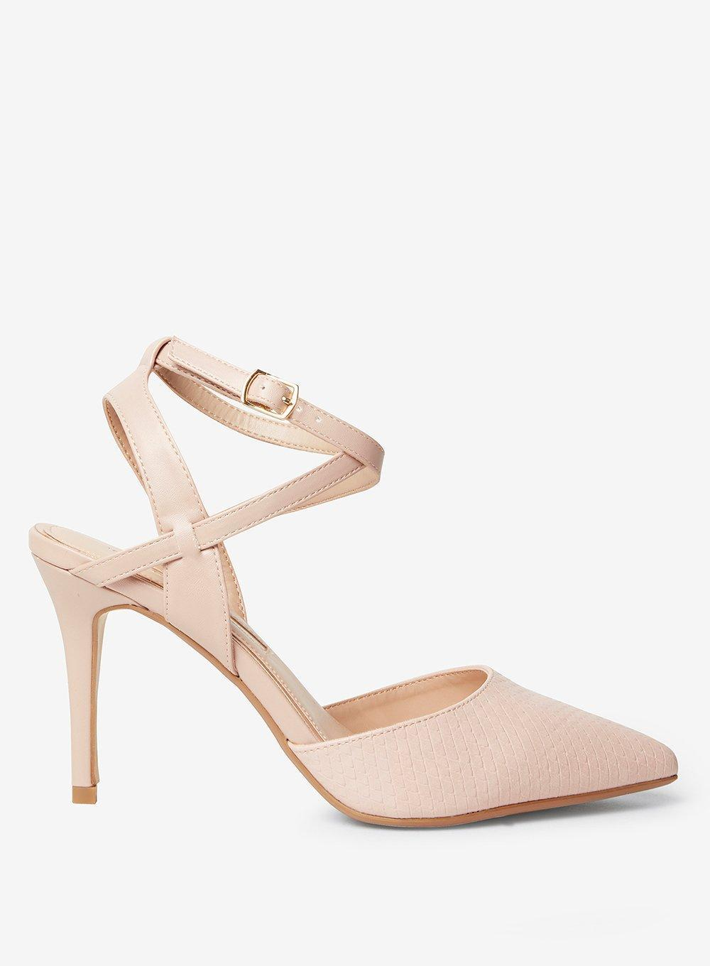 2a33c38fda069 Lyst - Dorothy Perkins Nude Pu Glamorous Court Shoes in White