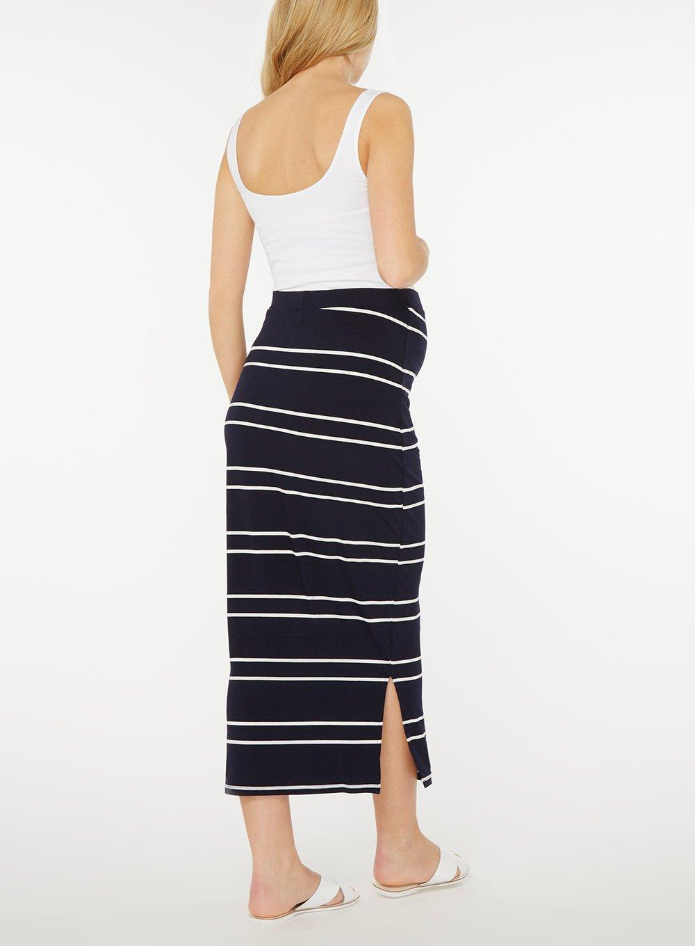 8faaa598355 Dorothy Perkins Maternity Navy And Ivory Striped Maxi Skirt in Blue ...