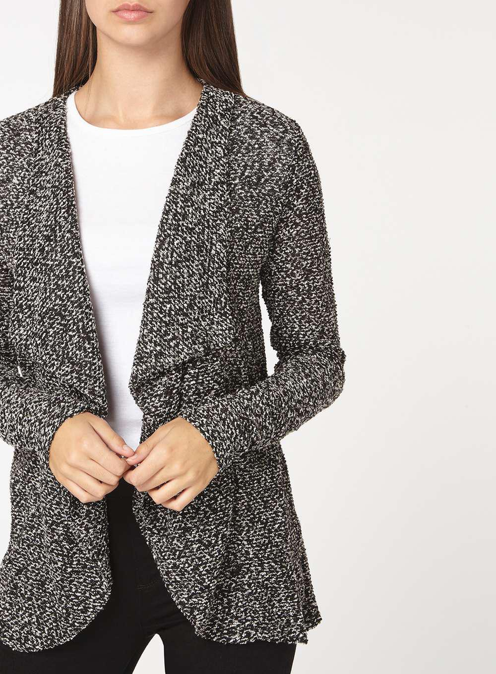 Dorothy perkins Billie & Blossom Tall Grey Waterfall Cardigan in ...
