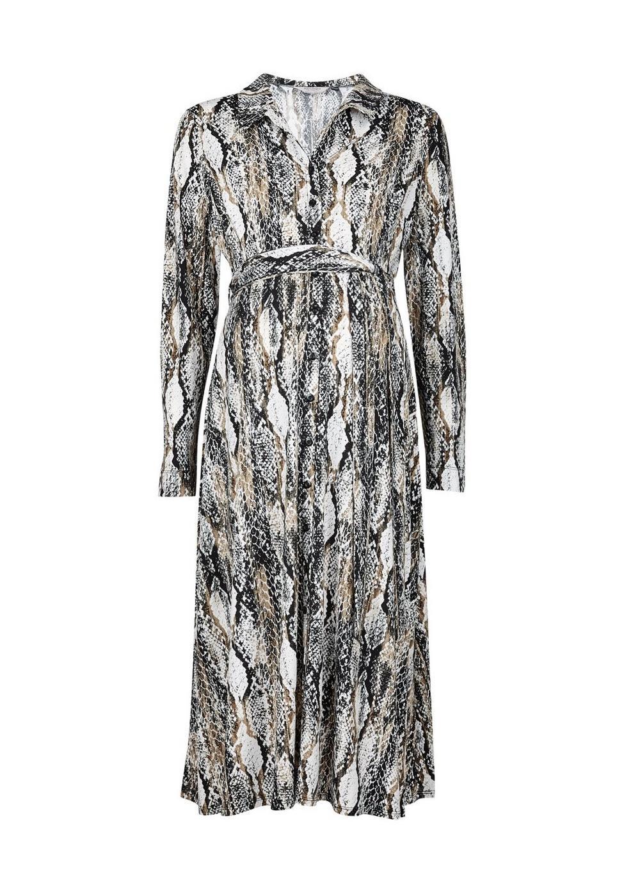 00be89987a Dorothy Perkins. Women's White Maternity Multi Coloured Snake Print Midi  Shirt Dress