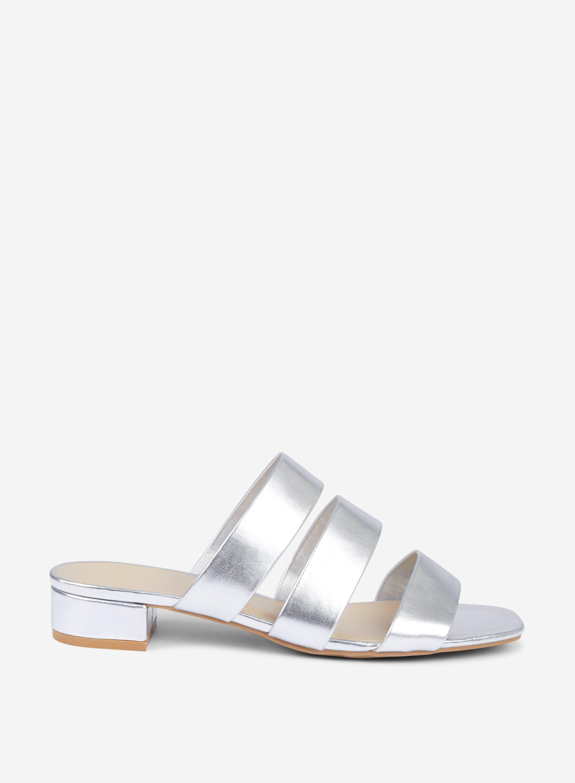 934f80205d1f Lyst - Dorothy Perkins Wide Fit Silver Stormy Sandals in Metallic