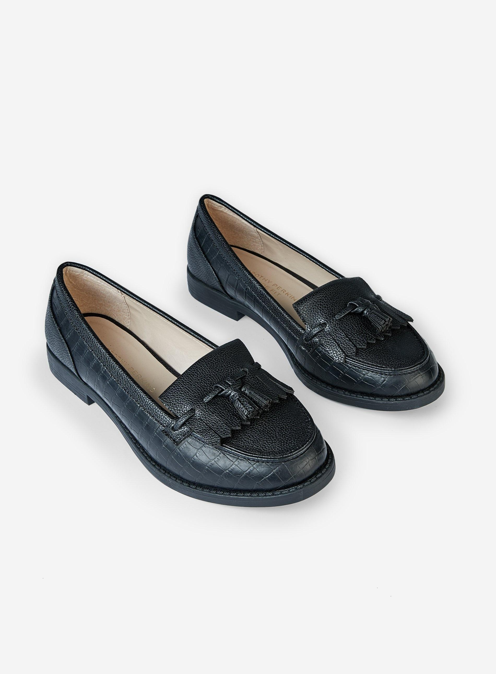 0b3bb410108 Dorothy Perkins - Wide Fit Black  laurie  Loafers - Lyst. View fullscreen