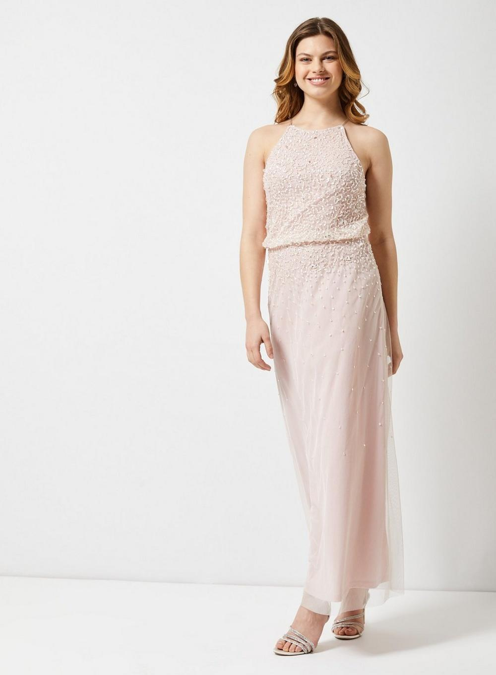 ec020f15b31e3 Dorothy Perkins Showcase Blush Embellished 'ava' Maxi Dress in Pink ...