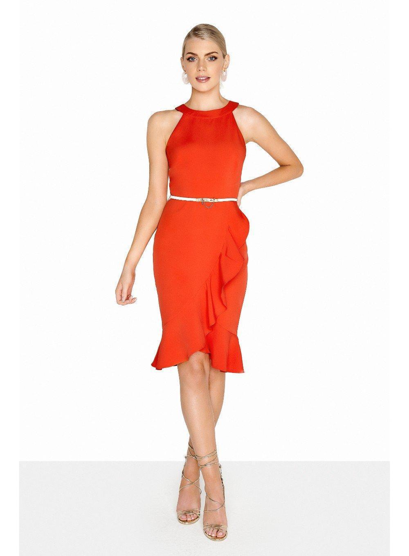 1806692a2b Lyst - Dorothy Perkins Paper Dolls Orange High Neck Wrap Dress in Orange