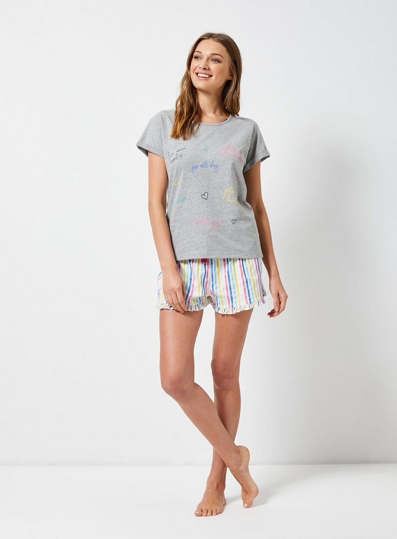 e393a88146d4 Dorothy Perkins - Gray Multi Coloured  rainbow  Slogan Pyjamas - Lyst. View  fullscreen