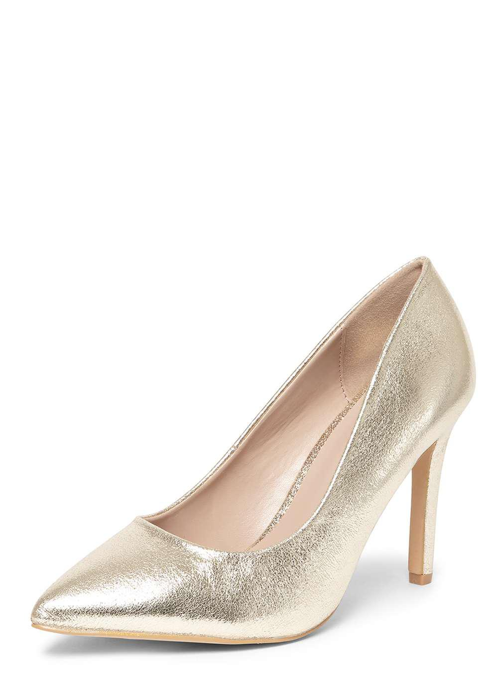 aacceb2f118 Lyst - Dorothy Perkins Wide Fit Gold  emily  Court Shoes in Metallic