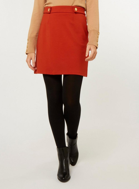 90bc430589b Dorothy Perkins - Red Rust Popper Mini Skirt - Lyst. View fullscreen