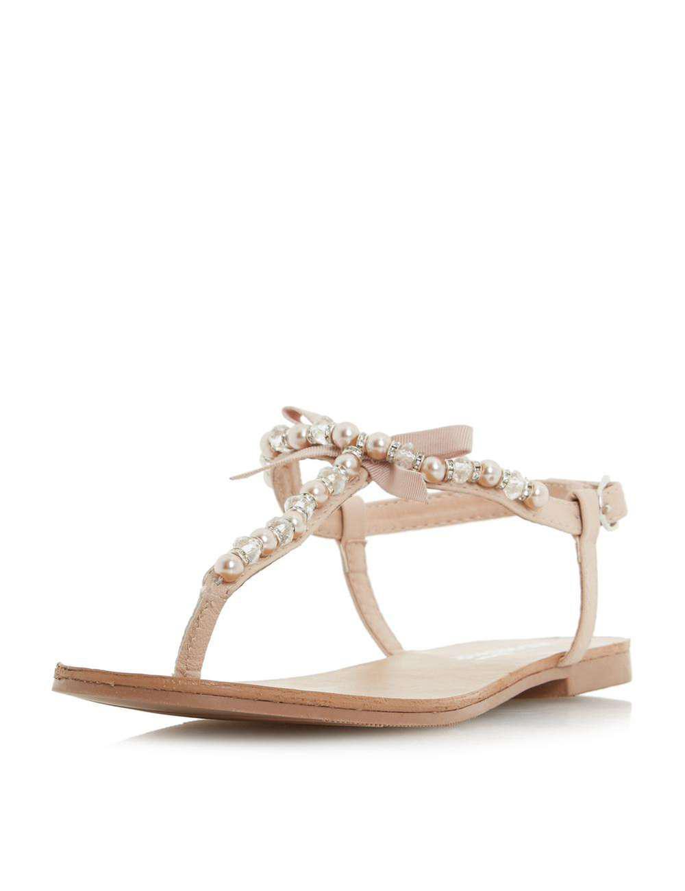 Magasin De Vente Dorothy Perkins Head Over Heels by Dune Nude 'Loula' Flat Sandals Vente 100% Garanti IBdxqhCF7