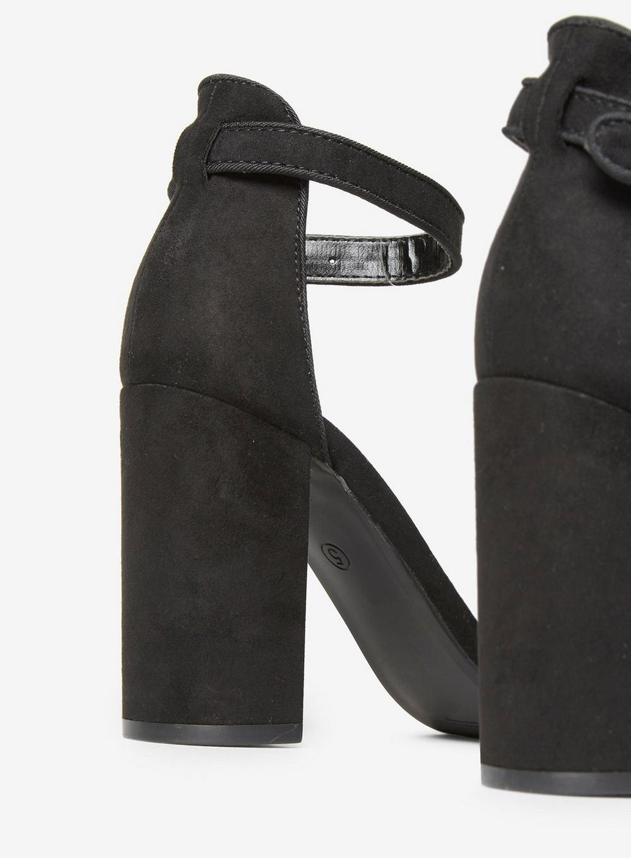 36ac8102eacf46 Dorothy Perkins - Black Shimmy Block Heeled Sandal - Lyst. View fullscreen