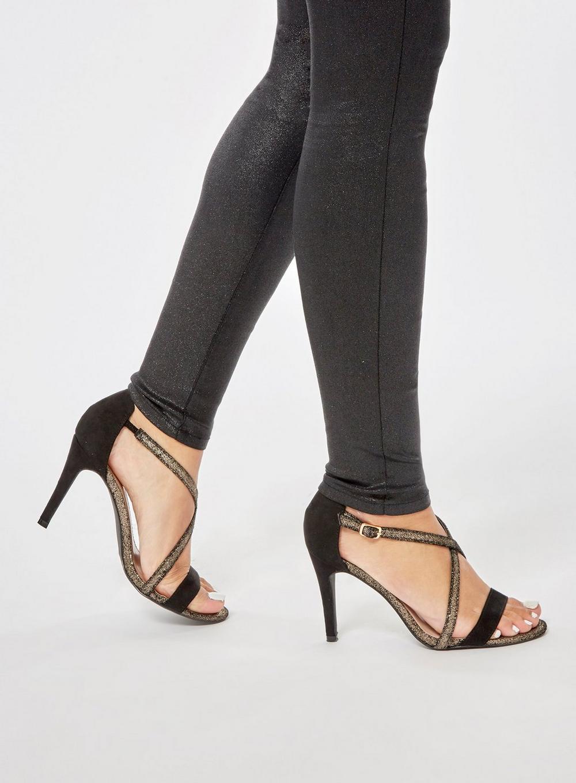 5a3fd00a3f Dorothy Perkins - Wide Fit Exclusive Black 'bestie' Heeled Sandals - Lyst.  View fullscreen